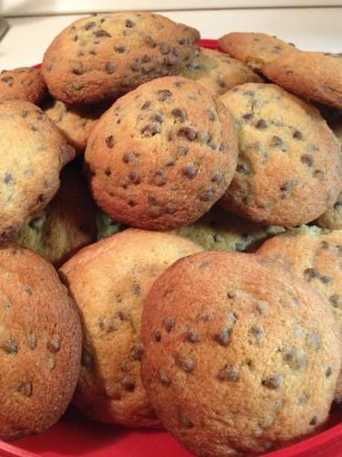 cookies, cookies con gocce di cioccolato
