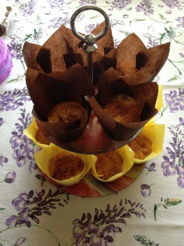 muffin salati, rustici, muffin prosciutto e formaggio