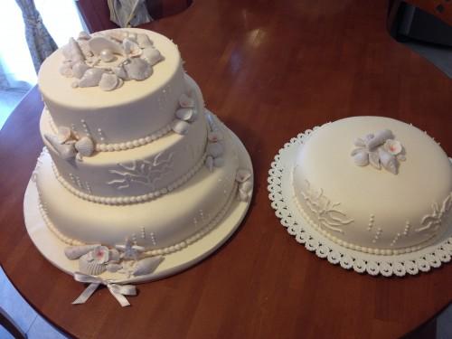 torta con conchiglie,torta conchiglie,shells cake,torta marina,torta battesimo