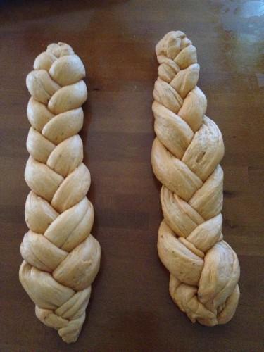 pan di pizza doppia treccia,pane rustico