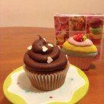cupcake con ganache al cioccolato