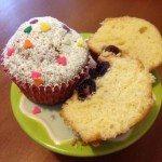 Muffin panna e amarene