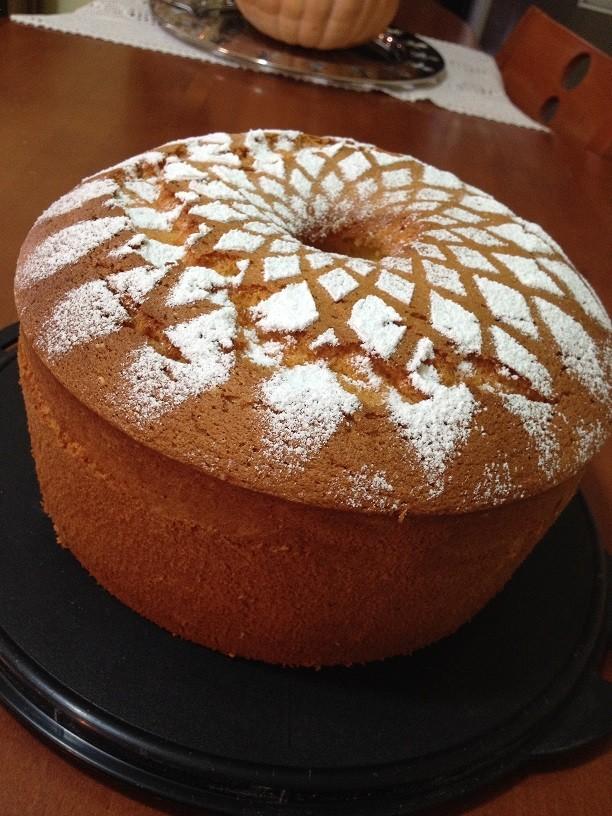 Ciambellone americano o chiffon cake