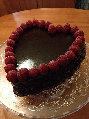 Torta al cioccolato per San Valentino