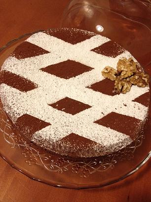 Torta noci e cioccolato (solo albumi)