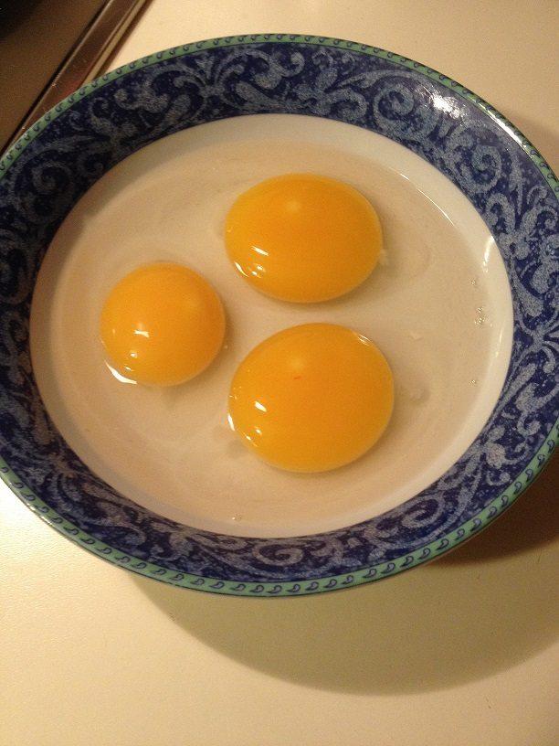 Focaccia integrale con frittata di uova di oca