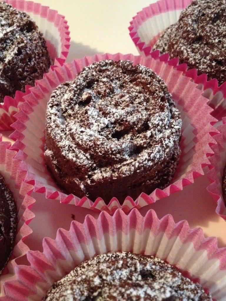 Muffins e torta nuvola nera