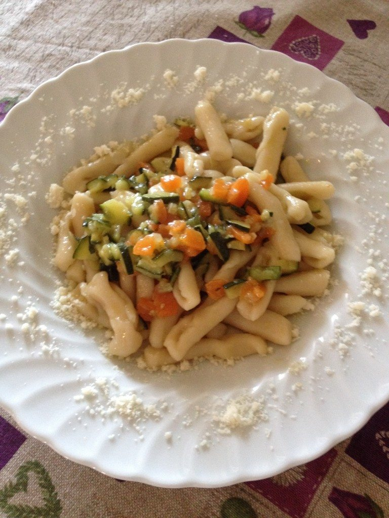 Cavatelli con zucchine e carote