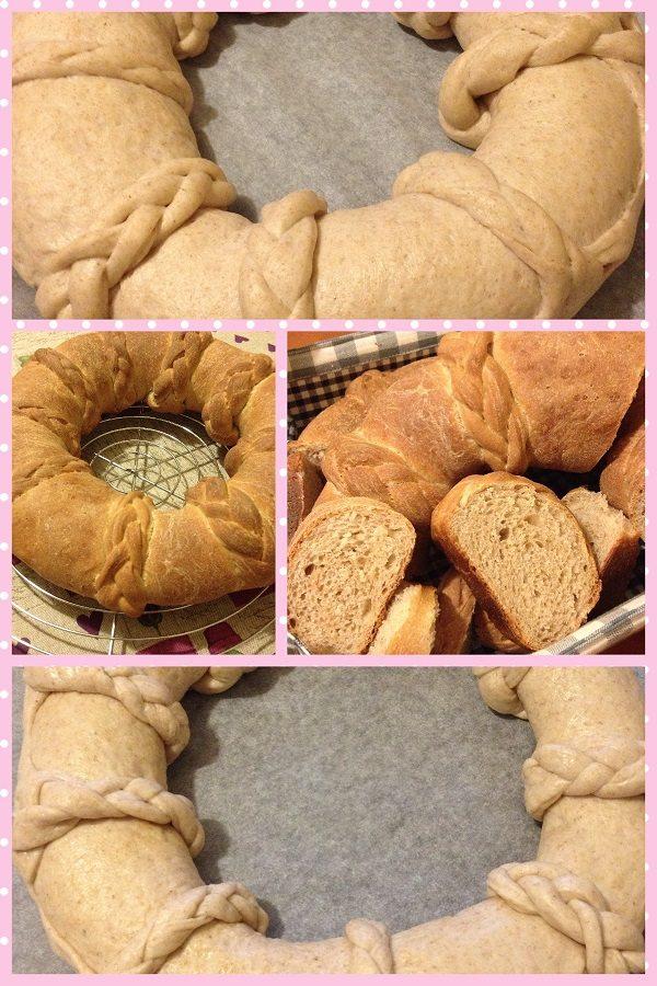 Corona di pane al farro