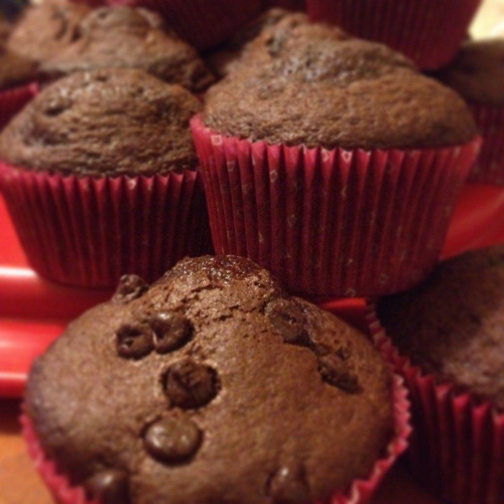 Muffins delirio al cioccolato