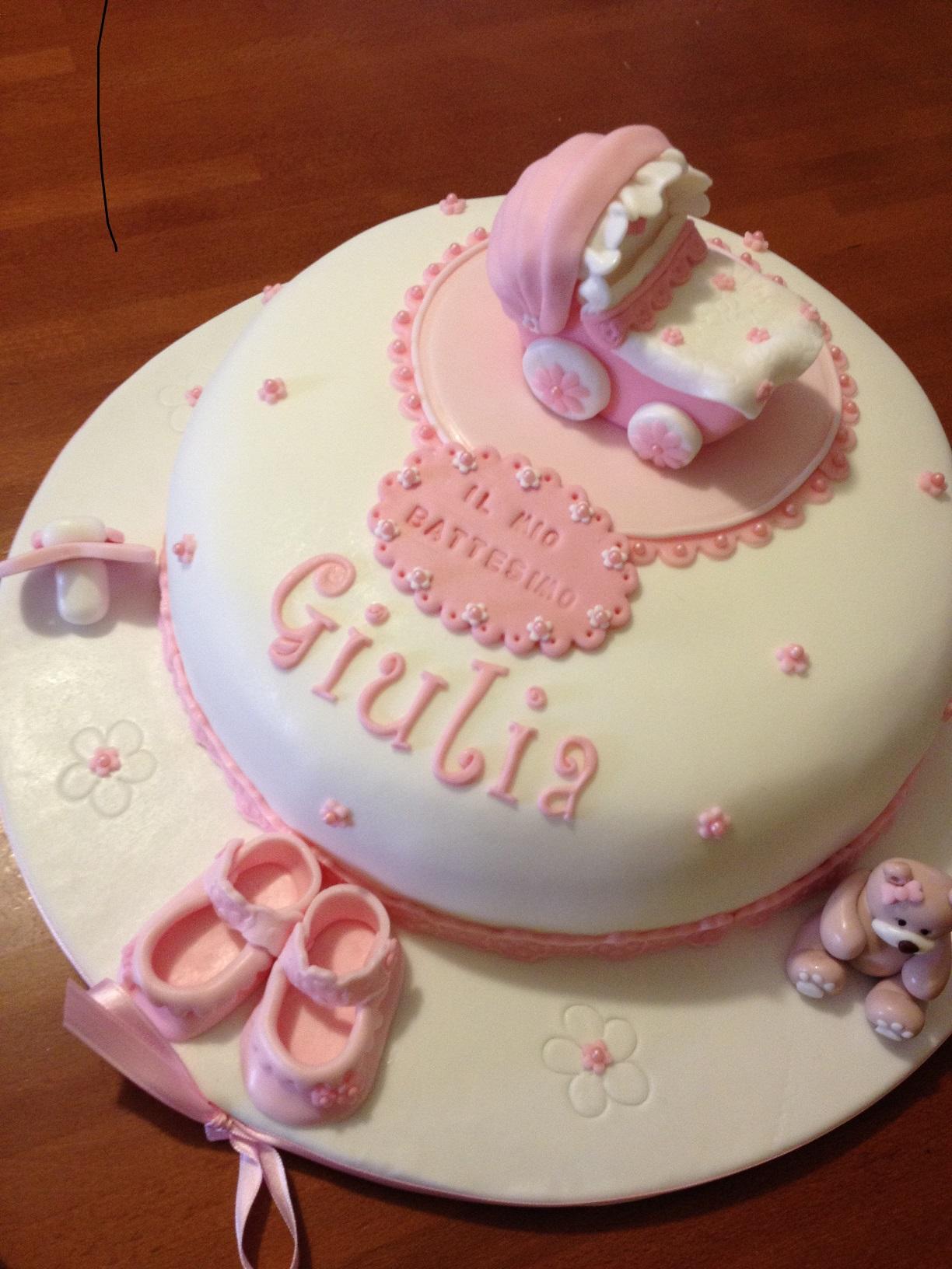 spesso Torta per il battesimo con carrozzina | Paola e le torte BO76