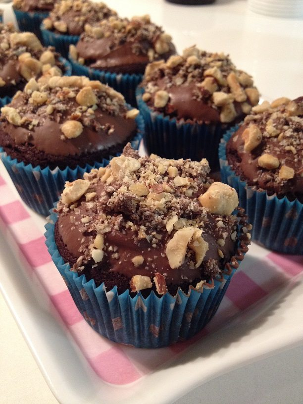Muffins al Ferrero Rocher