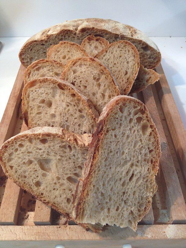 Pane misto semola con esubero di pasta madre