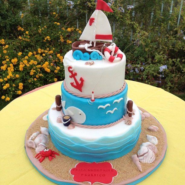 Torta marina per Prima Comunione