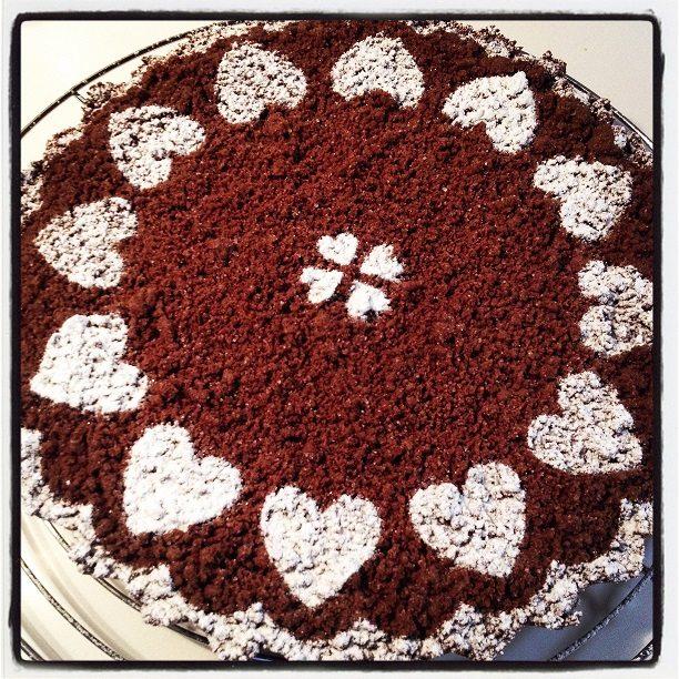 Torta sbrisolona al cacao con ricotta e cioccolato