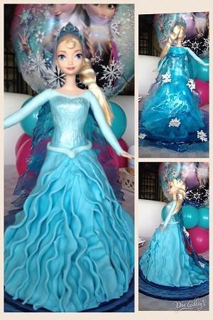 Torta Frozen con bambola