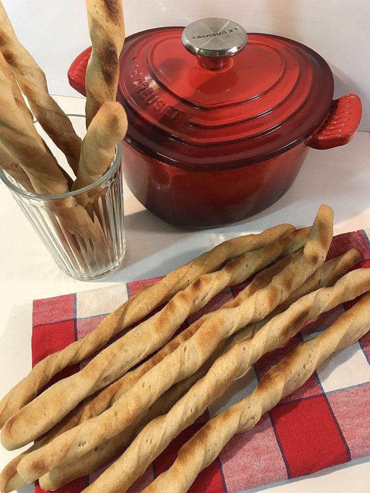 Grissini al parmigiano con esubero di pasta madre