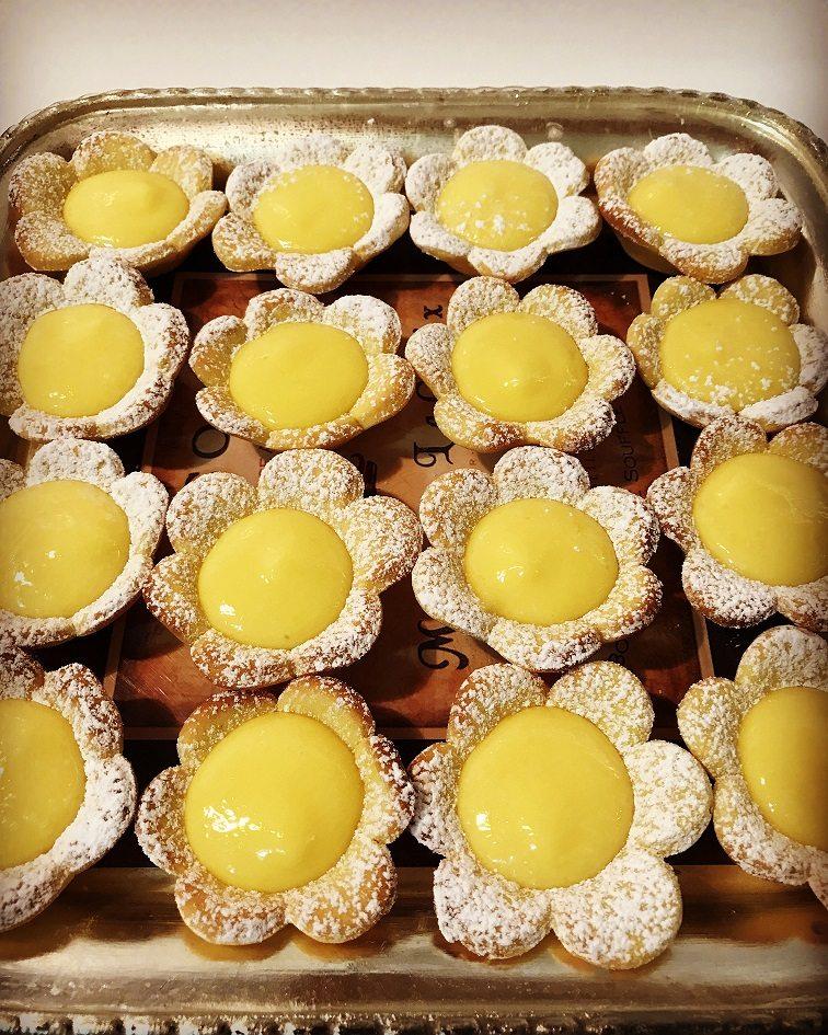 Tartellette al lemon curd