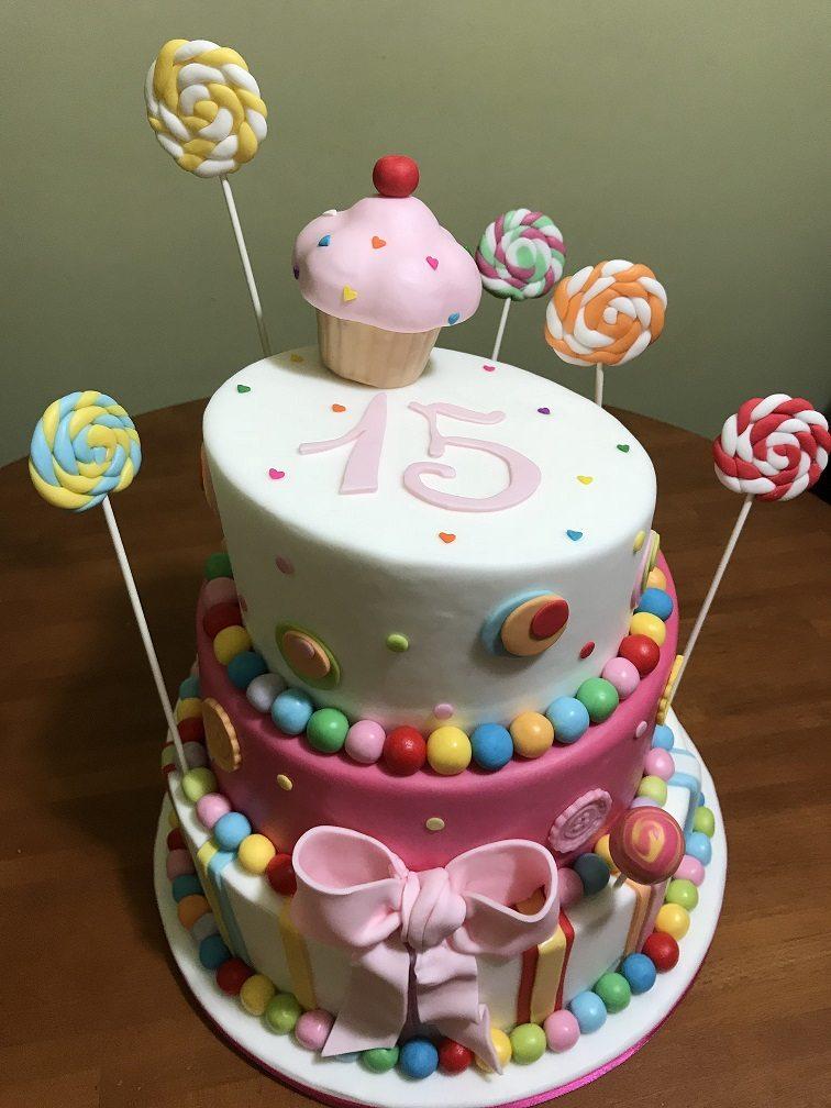 Torta wonky con lecca lecca