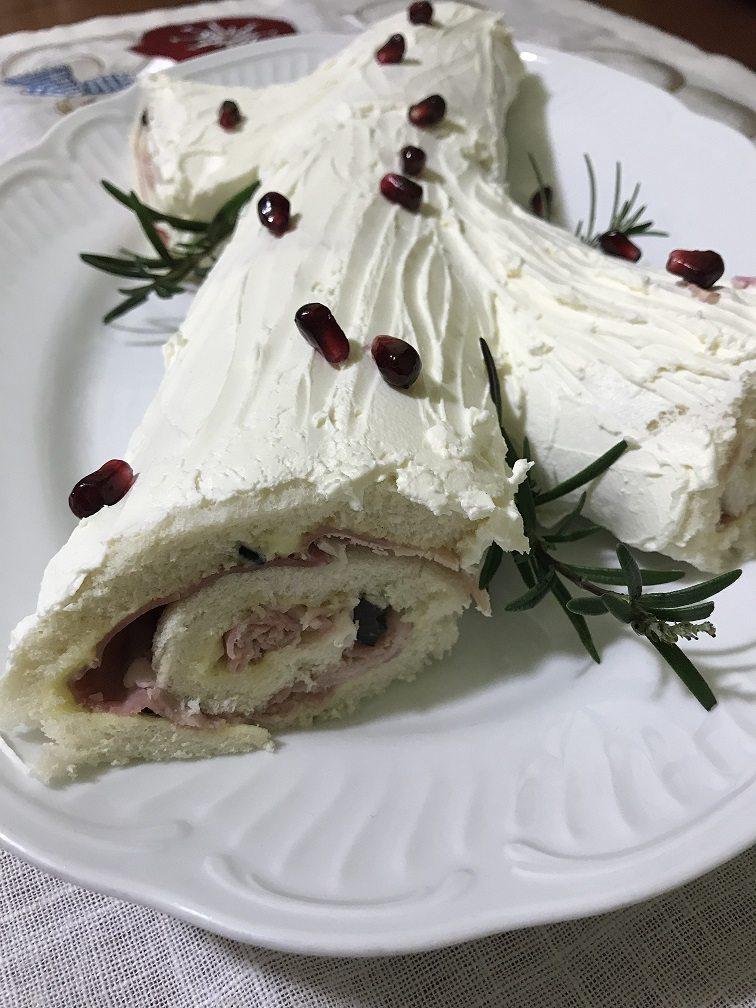 Tronchetto natalizio salato